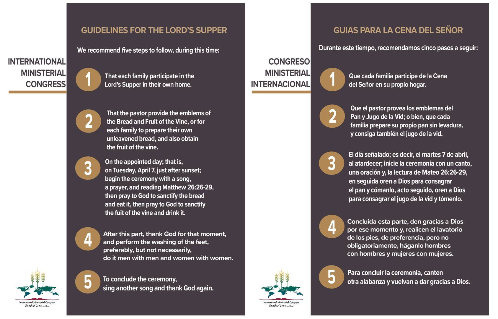 Lord's Supper Guidelines