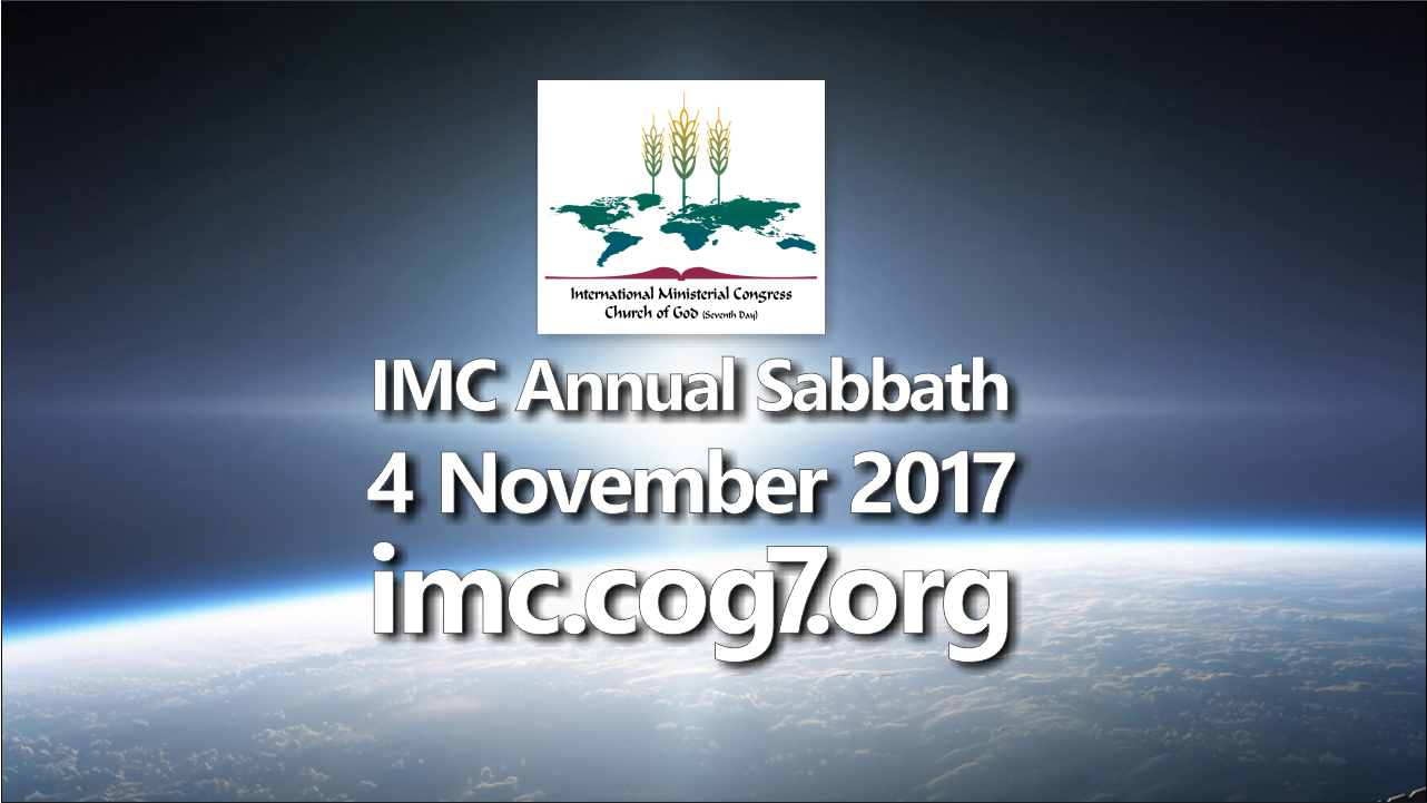 IMC Annual Sabbath 4 November 2017